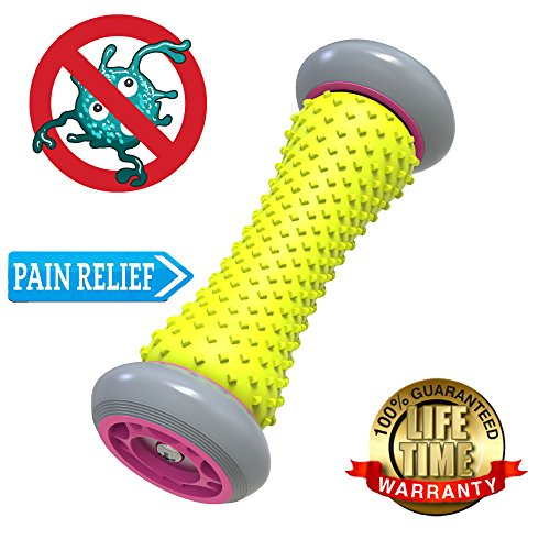 Lift Heavy Fitness Rollers for muscles/Foot Massage Roller Anti-Microbial relieves pain from Plantar Fascitis. Foot Massager treats all Trigger Points and Muscles of the body. NEW LOWER PRICE -