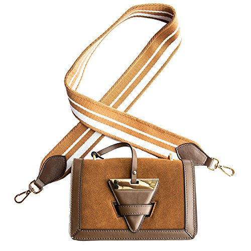Women's Small Buckle Triangle Shoulder Crossbody Bags Lightbrown Furs HqAwpHznF