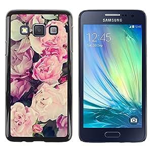 """Pulsar Snap-on Series Teléfono Carcasa Funda Case Caso para Samsung Galaxy A3 , Rosa primavera verano pétalos de las flores"""""""