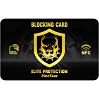 Protezione RFID per carte di credito  contactless, Blocco  RFID & NFC , Proteggi carte bancarie, Bancomat , Documenti - Una sola Blocking Card rende tutto il portafoglio schermato