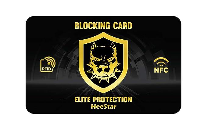 RFID Blocker, RFID Card Protector - Tarjeta RFID Bloqueo para Tarjetas de crédito sin Contacto, Protector Tarjetas credito, Anti RFID NFC, una Sola Tarjeta ...