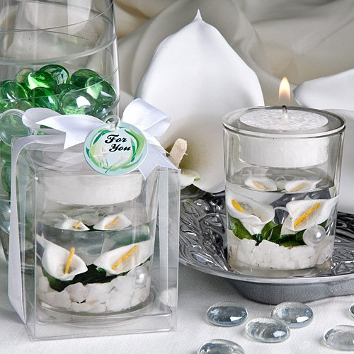 [Fashioncraft Calla Lily Wedding Candle Favour] (Lilies Unity Candle)
