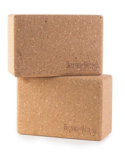 Set of 2 HemingWeigh Cork Yoga Blocks