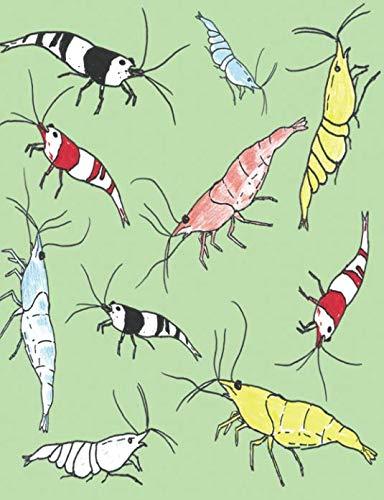 Aquarium Shrimp Pattern Composition Book: 200 Page, 100 Sheet 7.44