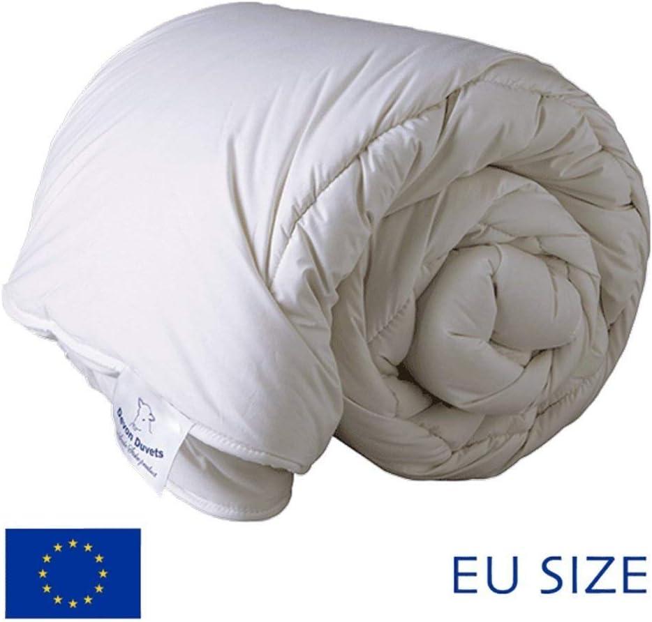 Devon couettes EU-British fabriqu/é /à la Main Naturel Printemps//Automne Poids Moyen 600/g//m/² 260/cm x 240/cm Laine Blanc Super-King