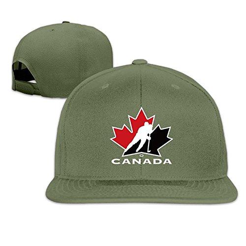 World Cup Of Hockey Team Canada Unisex Fitted Flat Brim Solid Baseball Cap & Hat Black - Playstation Gift Card Canada