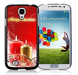 Individualization Samsung S4 TPU Protective Skin Cover Merry Christmas Black Samsung Galaxy S4 i9500 Case 48