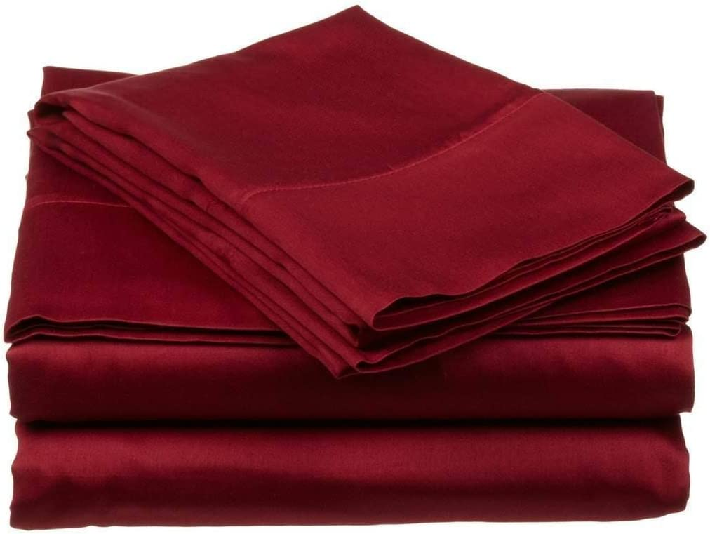 100/% Egyptian Cotton 4 PCs Sheet Set Small Double Size. Sage Stripe 30 Cm Deep Pocket of Fitted Sheet 400 Thread Count