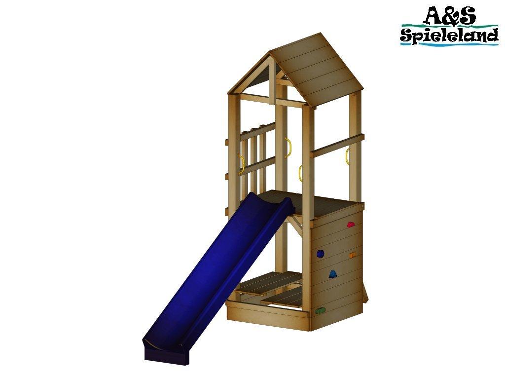 Spielturm CHRIS 2.0 Rutsche 240 cm Kletterturm Sandkasten Pfosten 9x9cm