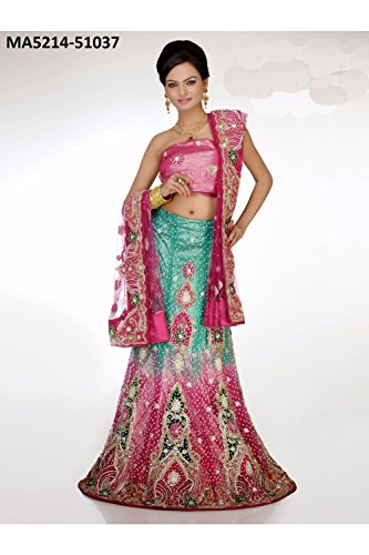 Indian Lehenga Choli For Women Party Wear Pink Designer Traditional by Aashima Fab Store (Image #1)