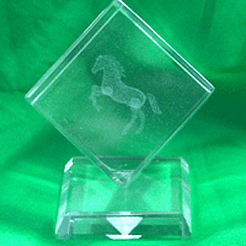 Intrepid International Crystal Weight Etched Rearing Horse on -