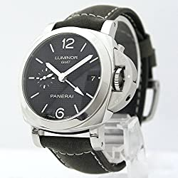 Panerai Luminor 1950 3 Days GMT Acciaio Leather Men Watch PAM00535