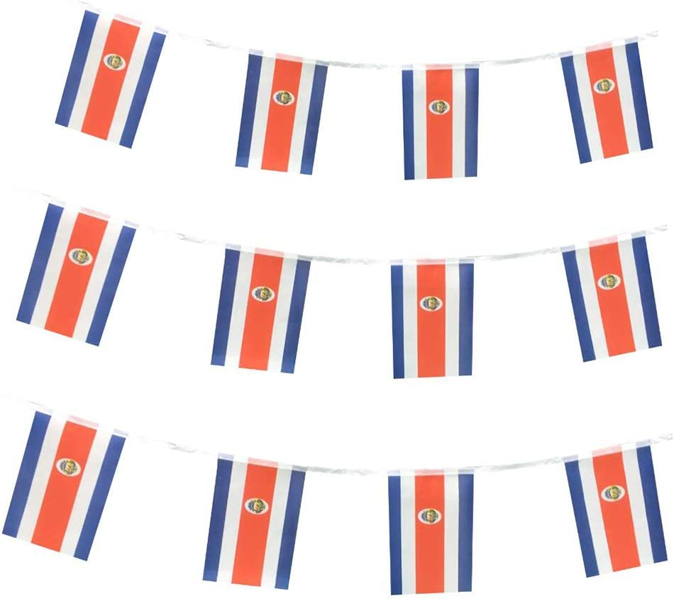 Costa Rica Flags Costa Rican Small String Mini Flag Pennant Banner Decorations