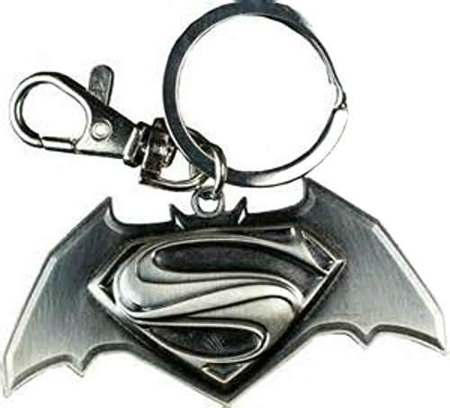 Dc Comics Batman Vs Superman Movie Replica Logo Keychain w/Gift Box -