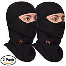 Balaclava by GearTOP, Best Full Face Mask, Premium Ski Mask and Neck Warmer for Motorcycle and Cycling (BLACK-2 Pack)