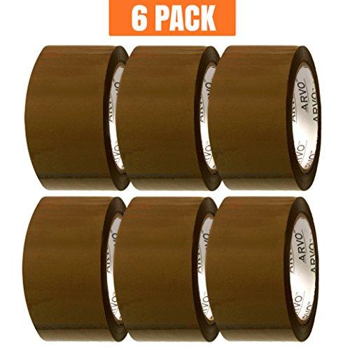 6 x Rollen 66 m x 48mm Braun Abrollend Paket Klebeband  Packband Paketband