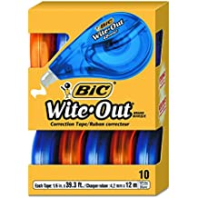 BIC Wite-Out Brand EZ Correct Correction Tape, 10-Count, White
