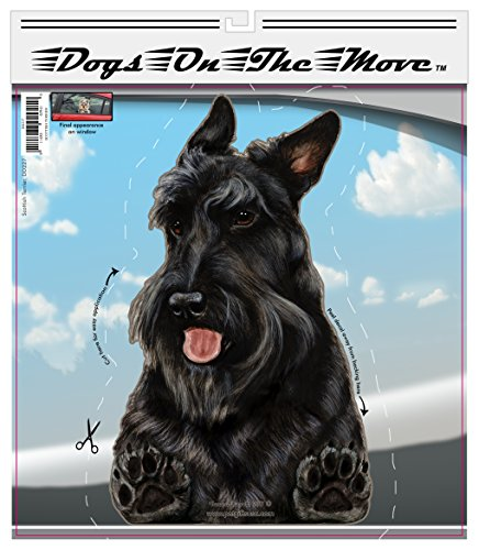 - Dogs On The Move Vinyl Decal (Scottish Terrier)