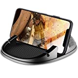 Winique Anti-Slip No Glue Silicone Car Dashboard Cell Phone Mount, Hands-free Phone Holder Pad Mat Cable Management Compatible With iPhone X 8 8P 7 7P 6 6S 5S, Galaxy S8 S7 S6 S5, Google Nexus, GPS