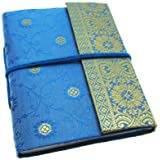 Paper High Carnet de notes Motif sari Taille M 120 x 165 mm bleu
