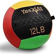 Yes4All Wall Ball (Vibrant, Blue Camo, Black) - Soft Medicine Ball/Wall Medicine Ball for Full Body Workout an