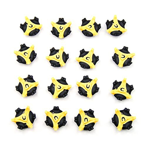PIXNOR Spike Cleats 16pcs Golf Cleats Shoes Spikes Stinger Metal Thread Screw Studs (Metal Golf Spikes)