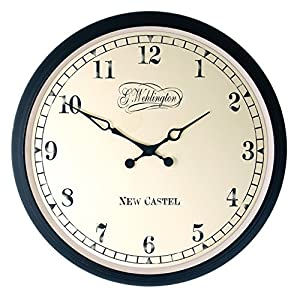 "NeXtime reloj de pared ""AALTJE"", diseño retro, redondo, ø 25 cm 8"