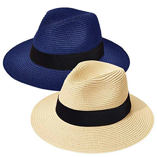 ZOORON Women Straw Fedora Hat [2...