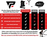 Pro Battle Ropes with Anchor Strap Kit – Upgraded Durable Protective Sleeve – 100% Poly Dacron Heavy Battle Rope for Strength Training, Cardio Workout, Crossfit, Fitness Exercise Rope