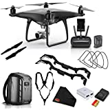 DJI Phantom 4 Pro Obsidian Edition Quadcopter w/Extra Propellers, Extra Battery and Memory Card Advanced Kit