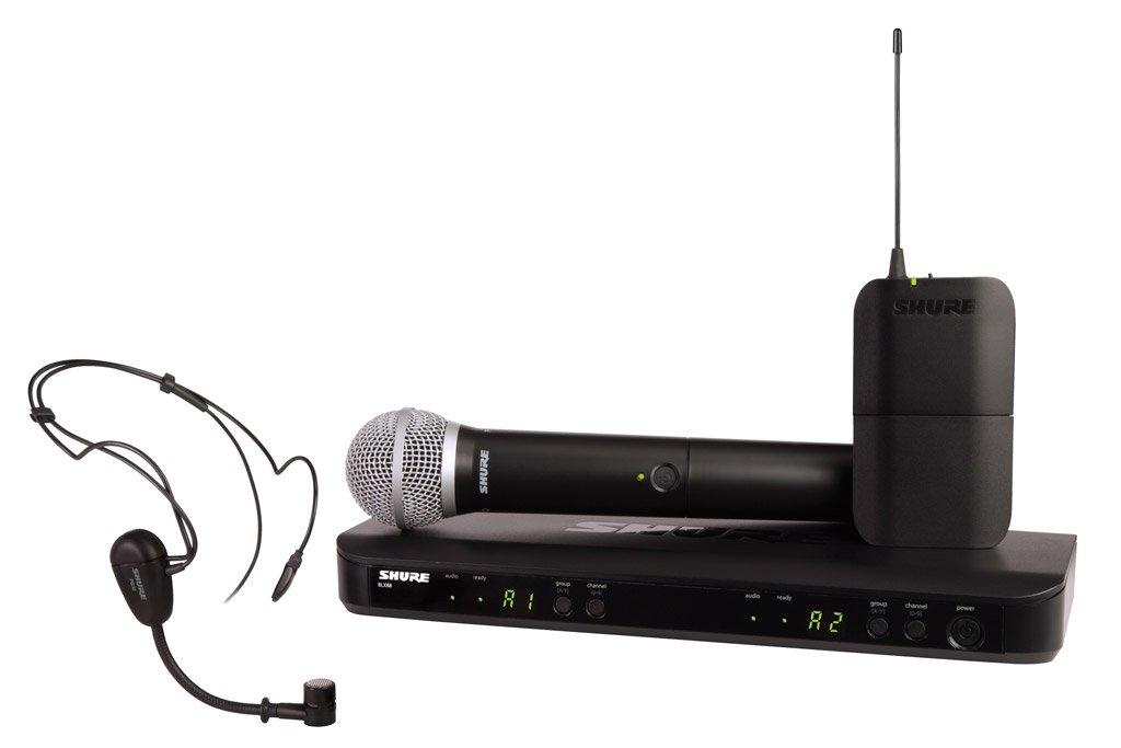 SHURE ワイヤレスシステム BLXシリーズ BLX1288/PG30 ボディパック型送信機 ヘッドウォーンマイク ハンドヘルド型送信機 付属 BLX1288J/PG30-JB 【国内正規品】   B00E09LZ6A