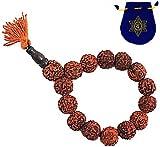 RUDRAKSHA WRIST MALA w/ Anahata Chakra Mala Bag ~ India Yoga Meditation Prayer Beads