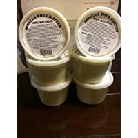afrikaimports African Shea Butter Cream 100% Natural, White/Ivory, 8 oz.