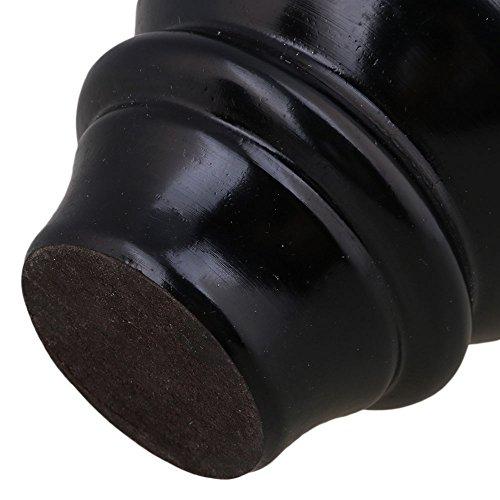 BQLZR Bois Noir Gourd-shaped meubles Table Canapé Bureau Pieds Pieds Lot de 4, noir, M4170724045