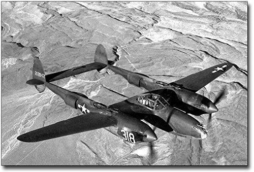 - Lockheed P-38 Lightning Aircraft WWII 8x12 Silver Halide Photo Print