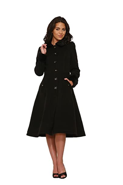 1950s Jackets, Coats, Bolero | Swing, Pin Up, Rockabilly Hearts & Roses Collette Coat (Shipped from The US US Sizes) $64.88 AT vintagedancer.com