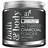 Artnaturals Teeth Whitening Charcoal Powder - 4 Oz - Activated Charcoal for a Natural, Non-Abrassive Whitening - Mint Flavored