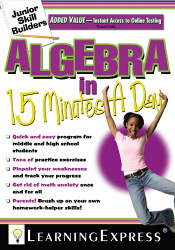 Download Algebra in 15 Minutes a Day PDF