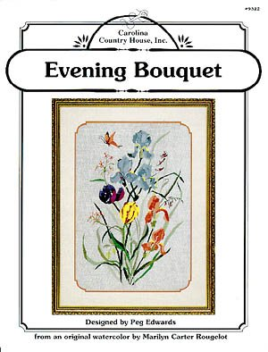 Evening Bouquet - Cross Stitch Design from Original Watercolor by Marilyn Carter Rougelot (#9322) ()
