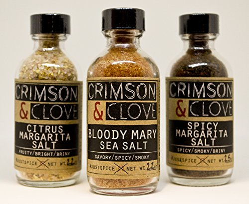 Cocktail Salt Gift Set by Crimson & Clove - Bloody Mary Salt, Citrus Margarita Salt and Spicy Margarita Salt