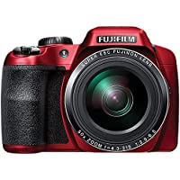 Fujifilm FinePix S9900W Digital Camera with 3.0-Inch LCD (Red) (International Model) No Warranty