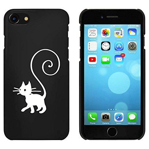 Noir 'Queue en Spirale Chat' étui / housse pour iPhone 7 (MC00074029)