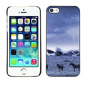 TopCaseStore / la caja del caucho duro de la cubierta de protección de la piel - Nature Beautiful Forrest Green 117 - Apple iPhone 5 / 5S