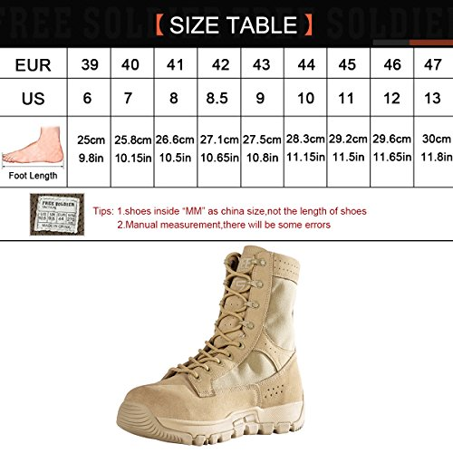 Stivali Tattici Soldato Libero Da 8 Pollici Scarpe Da Deserto Stivali Alti Da Caviglia Stivali Militari Tan
