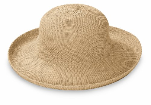 Wallaroo Women's Victoria Sun Hat - Lightweight and Packable Straw Hat, Tan