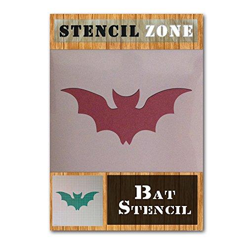 Bat Halloween Mylar Painting Pumpkin Wall Art Stencil Two (A3 Size Stencil - Medium) ()