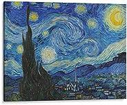 Cuadro decorativo de canvas (lienzo), Noche Estrellada - Vincent Van Gogh - Arte famoso, montado en bastidor d