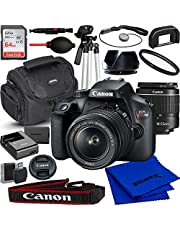 $419 » Canon EOS Rebel T100/4000d DSLR Camera with 18-55mm f/3.5-5.6 Zoom Lens and Advanced Accessory Bundle: Bundle Includes - SanDisk Ultra 62GB Memory Card, Tripod, Case, and Much More (18pc Bundle)