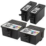 kodak esp 3 ink - Speedy Inks - Reman Kodak 10 #10 Set of 4 2 Black 2 Color 2x 8237216 & 2x 8946501 for use in EasyShare 5100, 5300, 5500, ESP Office 6150, 3, 5, 7, 9, 3250, 5210, 5250, 7250, 9250, Hero 6.1, 7.1, 9.5