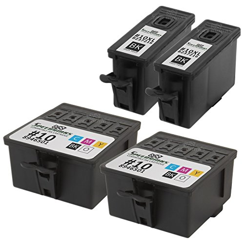 Speedy Inks - Reman Kodak 10 #10 Set of 4 2 Black 2 Color 2x 8237216 & 2x 8946501 for use in EasyShare 5100, 5300, 5500, ESP Office 6150, 3, 5, 7, 9, 3250, 5210, 5250, 7250, 9250, Hero 6.1, 7.1, 9.5 (Printer Easyshare Kodak Ink)